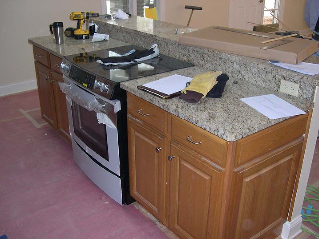 kitchen island with stove flickr photo sharing. Black Bedroom Furniture Sets. Home Design Ideas