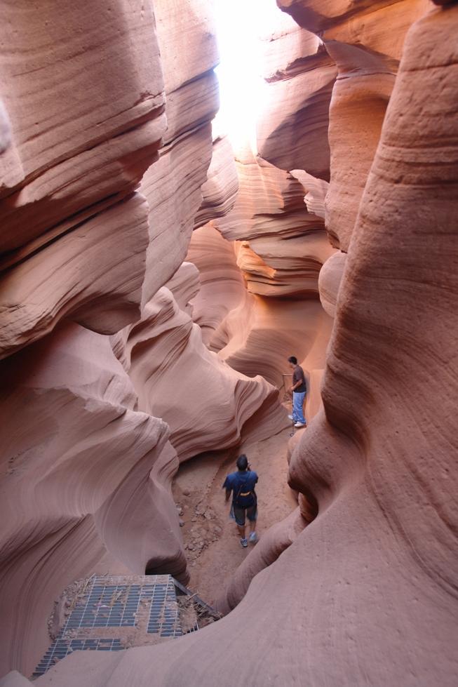 Primera vista del interior del Cañón justo al entrar por la angosta grieta, sin lugar a dudas ... un mundo fantástico