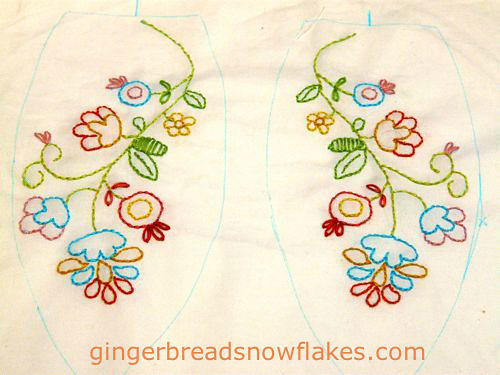 Easter Bunny embroidery - ears!