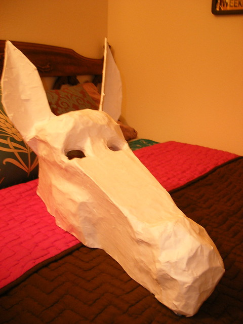 how to make a donkey mask