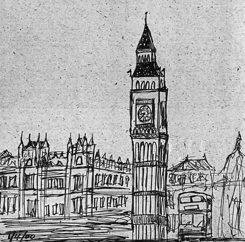 2276906779 176b600e80 jpgLondon Clock Tower Drawing