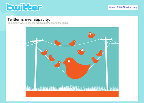 """My design for Twitter's """"over capacity"""" screen"""