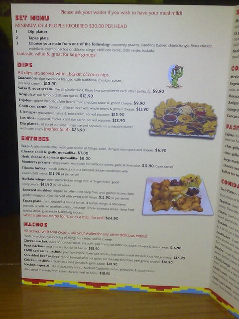 Amigos Mexican Resturant Crescent City Fl