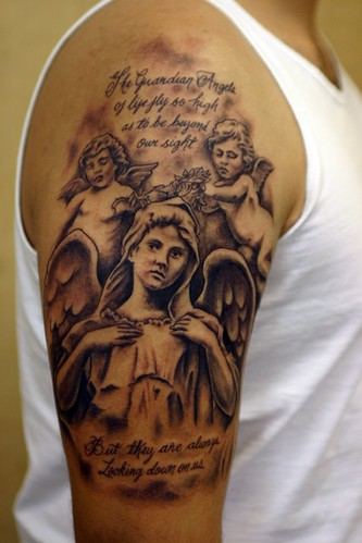 Angel and Cherubs Tattoo