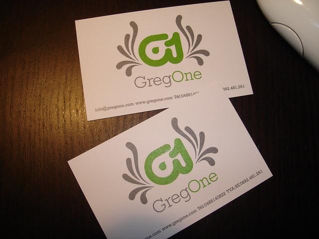 GregOne business cards