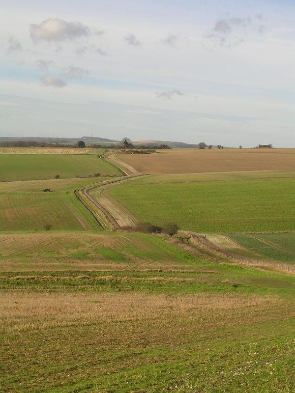 zigzag track Amberley to Arundel