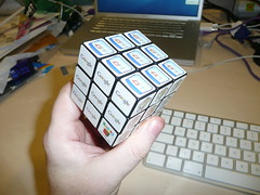 hand(1.0), rubik's cube(1.0), mechanical puzzle(1.0), toy(1.0),