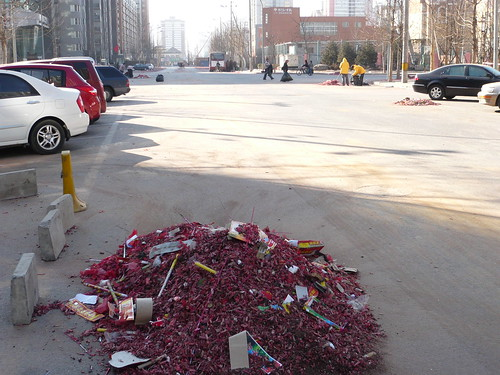 waste from spring festival fireworks