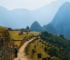 Entering Machu Picchu