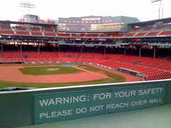 Boston - Fenway Park - One rule on the Green Monster