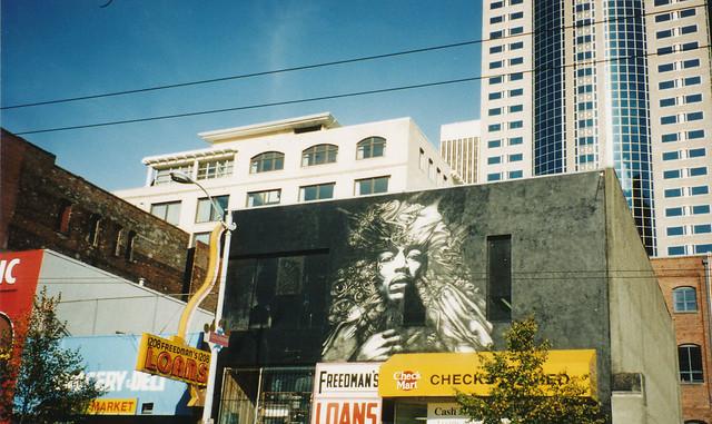 jimi hendrix mural in seattle flickr photo sharing. Black Bedroom Furniture Sets. Home Design Ideas