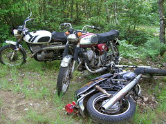 Motorbike cemetery