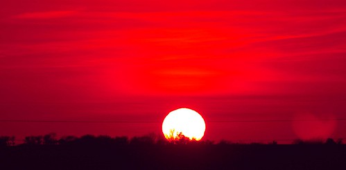 sunset red england sun clouds kent sandwich explore500