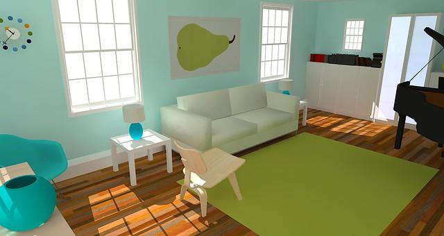 Google Sketchup Living Room Flickr Photo Sharing
