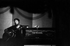 Odetta singing her folks songs at the Tin Angel, San Francisco, 1954, by Bob Willoughby