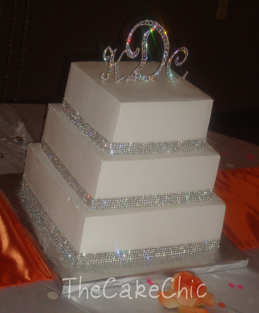 rhinestone wedding cake toppers