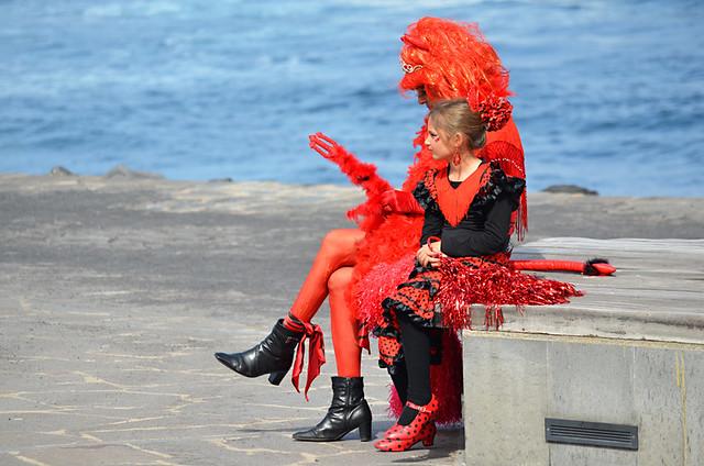 Flamenco Red, Coso Apoteosis, Puerto de la Cruz, Tenerife