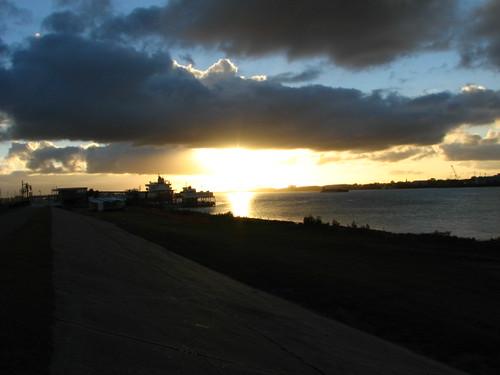 sunset water ferry river neworleans nola mississppiriver