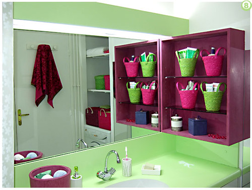 Bathroom decoration ideas 2009 january 2009 - Accessoire salle de bain rose fushia ...