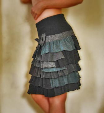 skirt by recycling t-shirts