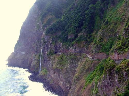Madeira - Porto Moniz - Sea Cliffs and Waterfall