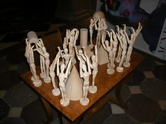 carving, art, skeleton, sculpture, bone,