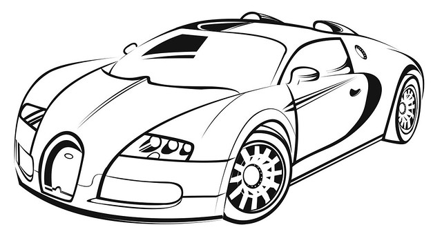 Related Pictures Cars And Coloring Pages X Bugatti With Fast Car