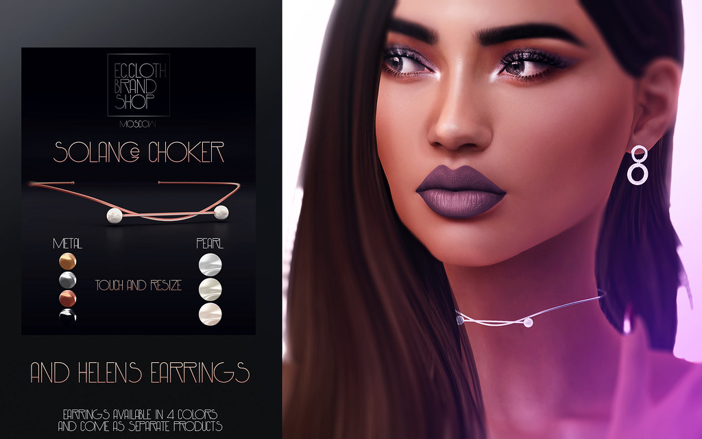 Ec.cloth - Solange Choker & Helens Earrings - SecondLifeHub.com