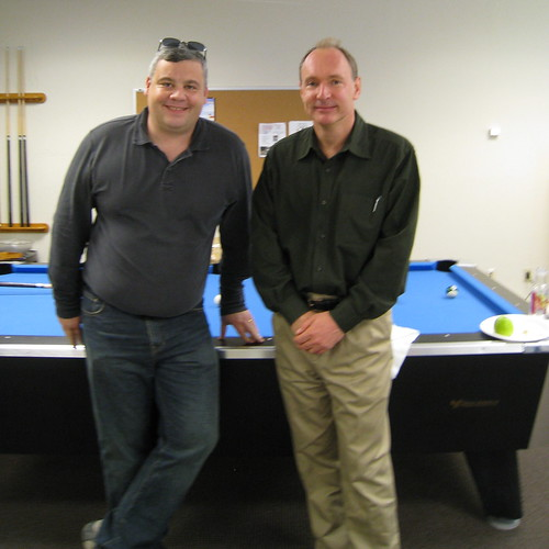 Tristan Nitot (left) and Tim Berners-Lee (right)