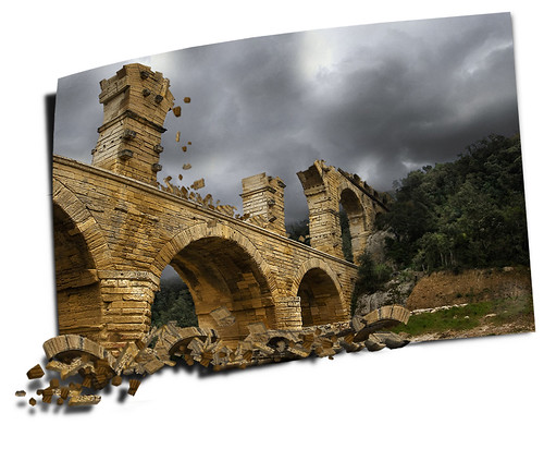 Earthquake at Le pont du gard