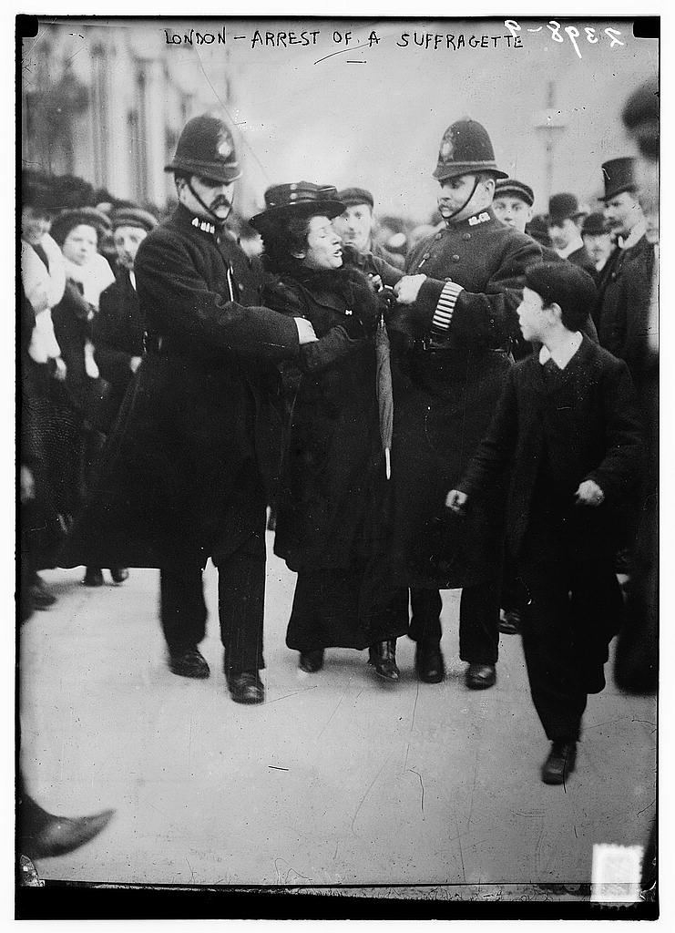 London - arrest of a suffragette (LOC)