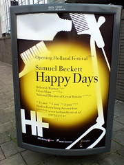 poster in the city of Amsterdam: Happy Days