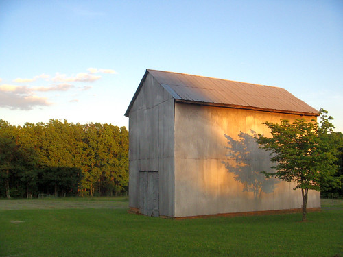 sunset virginia barns