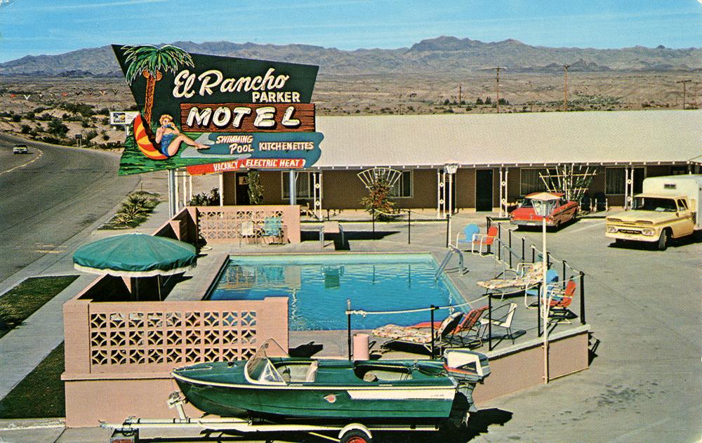 El Rancho Parker Motel - 709 South California Avenue, Parker, Arizona U.S.A. - 1960s