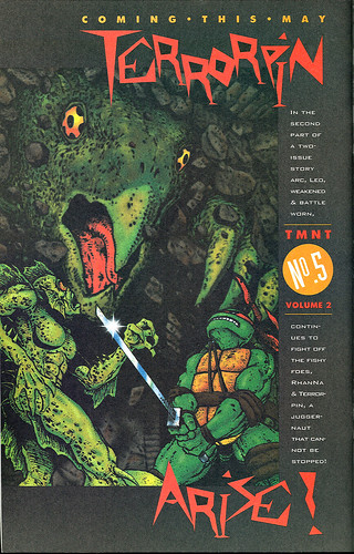 "CASEY JONES : North by Downeast - ""Teenage Mutant Ninja Turtles"" V. 2 # 5 ad   //  ""TERRORPIN ARISE ! "" (( 1994 ))"