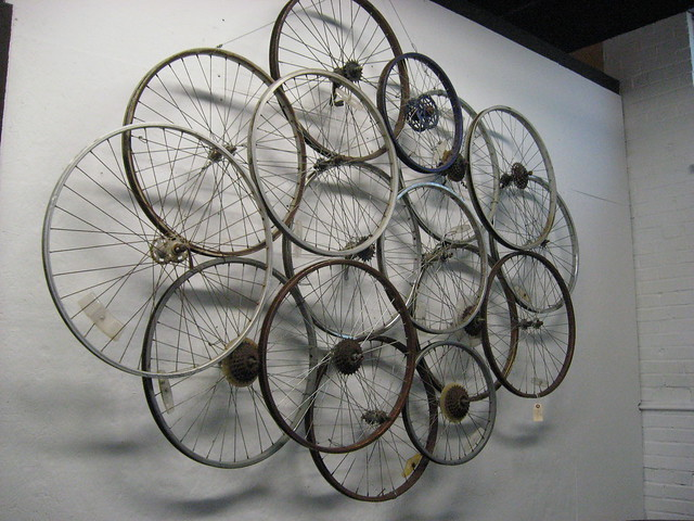 Bike wheel art flickr photo sharing for Bicycle wheel wall art