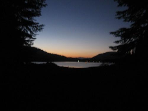 california sunset usa lake water colors geotagged unitedstates dusk scoutcamp 2007 shaverlake campchawanakee