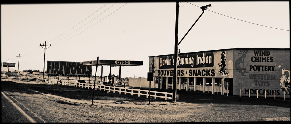 Views from the Road, New Mexico, 2006, Bowlin's Running Indian