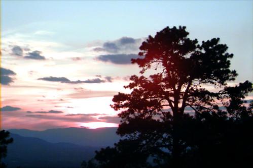 blue sunset mountain ridge roanoke