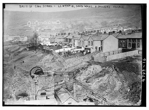 British coal strike - Llwynpia, South Wales. A colliery village.  (LOC)