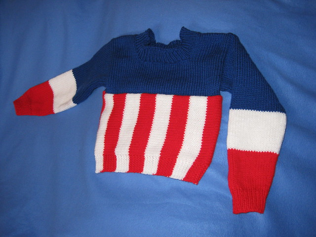 Captain America Knitting Pattern : Captain America Sweater Flickr - Photo Sharing!