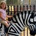 Small photo of Anja on Zebra