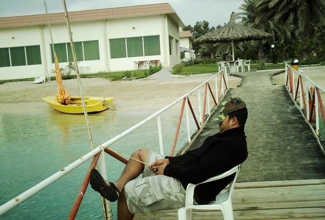 Very Dedicated  fisherman