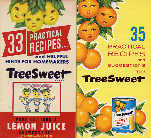 TreeSweet Recipe Booklets, 1940's & '50's