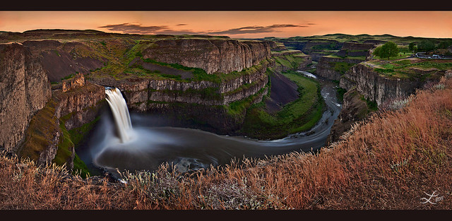 Springtime Sunset at Palouse Falls