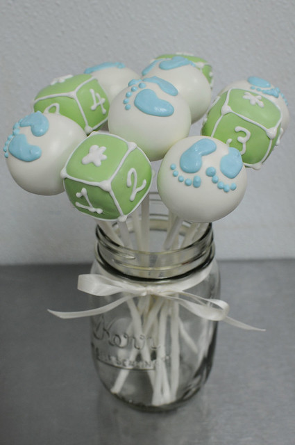 Baby Feet and Blocks Cake Pops Assortment