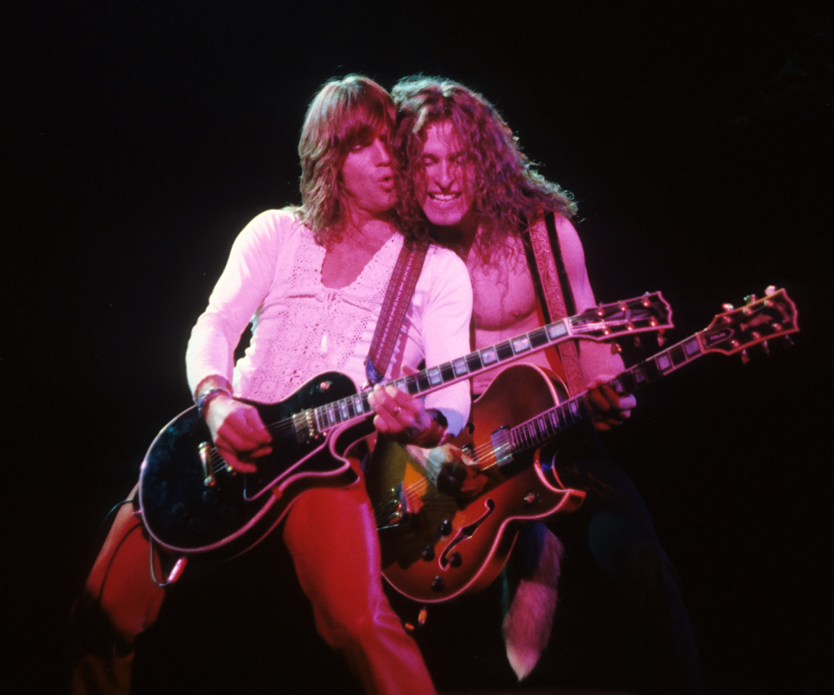 Ted Nugent and Charlie Huhn at the Hammersmith Odeon 1979