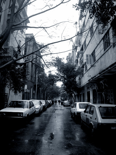 Light Rain in Cairo, Egypt