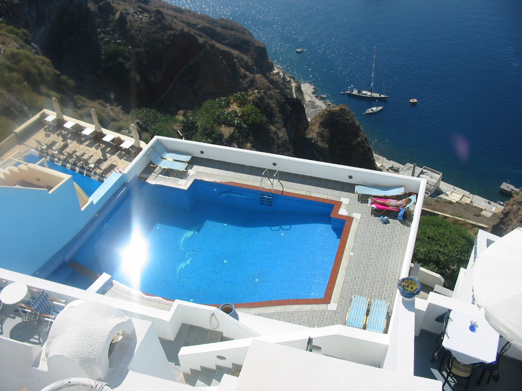 Santorini - My hotel pool - blue on blue