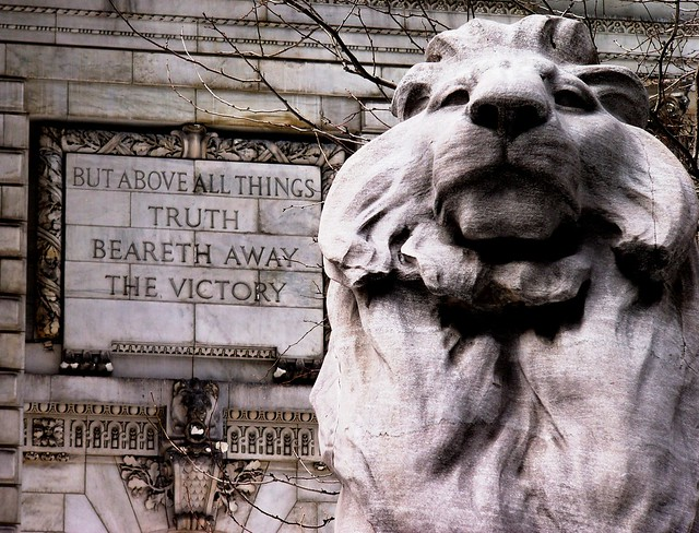 NYPL - Lion (Fortitude) and Truth